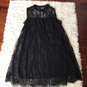 Black lace xhilaration dress size large